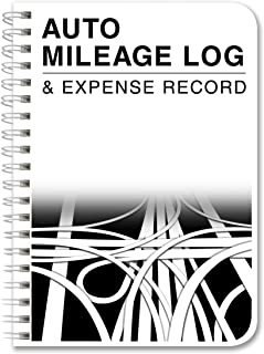 BookFactory Mileage Log Book/Auto Mileage Expense Record Notebook for Taxes - 124 Pages - 5