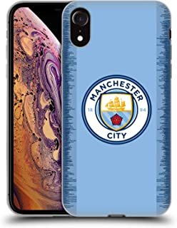 Official Manchester City Man City FC Home 2018/19 Badge Kit Soft Gel Case Compatible for iPhone XR