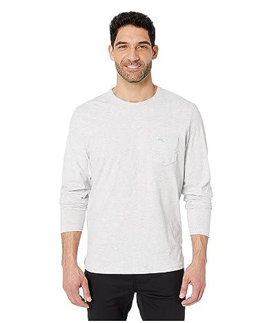 Tommy Bahama New Bali Skyline Long Sleeve T-Shirt (Zinc Heather) Men