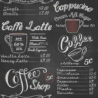 Portfolio Rasch Vintage Retro Coffee Shop Café Black White Chalk Wallpaper 234602