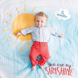 lulujo Baby's First Year Milestone Blanket and Cards Set, You are My Sunshine