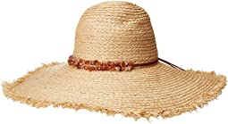 RHL3090OS Raffia Braid w/ Double Stone Trim Sun Brim