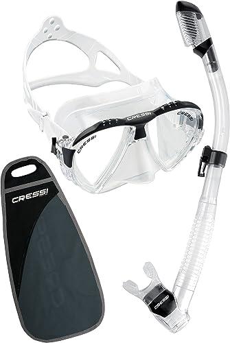 Cressi Matrix Diving Masque de masque de plongée, Couleur Clear mit SCHNORCHEL