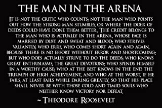 Theodore Roosevelt Man In The Arena Poster Theodore Roosevelt Poster 18x24 (TEDDY4)