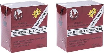 2 x Anti – Adipose Tea Ginseng – 60 sachets Estimated Price : £ 4,99
