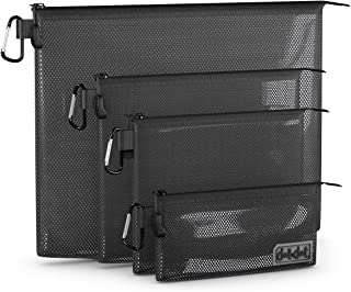 Dot&Dot Travel Accessories Organizer, Black, 4-Piece Set