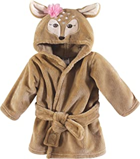 Hudson Baby Soft Plush Baby Bathrobe, Fawn, 0-9 Months
