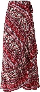 Women Boho Print High Waist Side Wrap Bohemian Asymmetric...