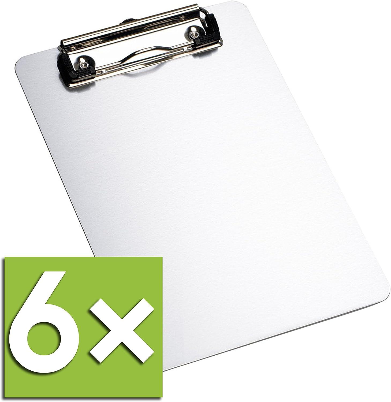 Gesh A4 Klemmbrett Gold Stahl Metall Legal Pad Men/ü Schreibblock B/üro Organizer mit Loch zum Aufh/ängen