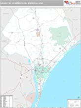 MarketMAPS Wilmington, NC Metro Area Wall Map - 2018 - ZIP Codes - Laminated - 64H x 48W inches