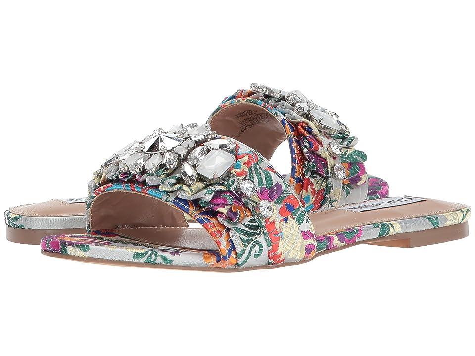Steve Madden Pomona Slide Sandal (Silver Multi) Women
