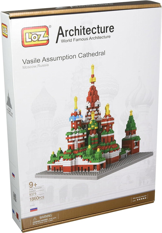 Loz Micro Blocks, Vasile Assumption Cathedral Model, Small Building Block Set, Nanoblock Compatible (1870 pcs)
