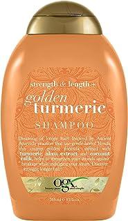 OGX Strength & Length + Golden Turmeric Shampoo with Coconut Milk to Soothe Scalp & Nourish Hair, Ayurveda Sulfate-Free Su...
