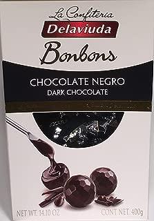 Delaviuda Extra Large Box Of Dark Chocolate Bonbons - 14.10Oz (400g) - Bombones De Chocolate Negro - Product Of Spain