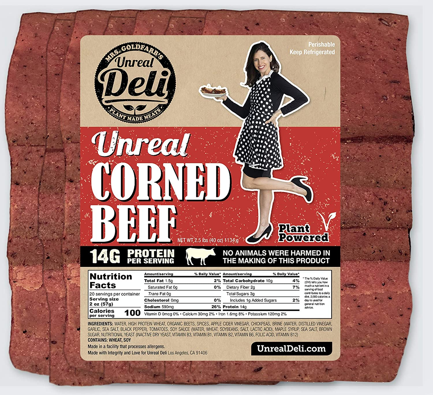 Unreal Corned Beef Max 78% OFF Thin-sliced Plant-based trend rank 100% V