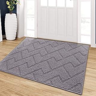 """Indoor Doormat, Front Back Door Mat Rubber Backing Non Slip Door Mats 24""""x35"""" Absorbent Resist Dirt Entrance Doormat Insid..."""