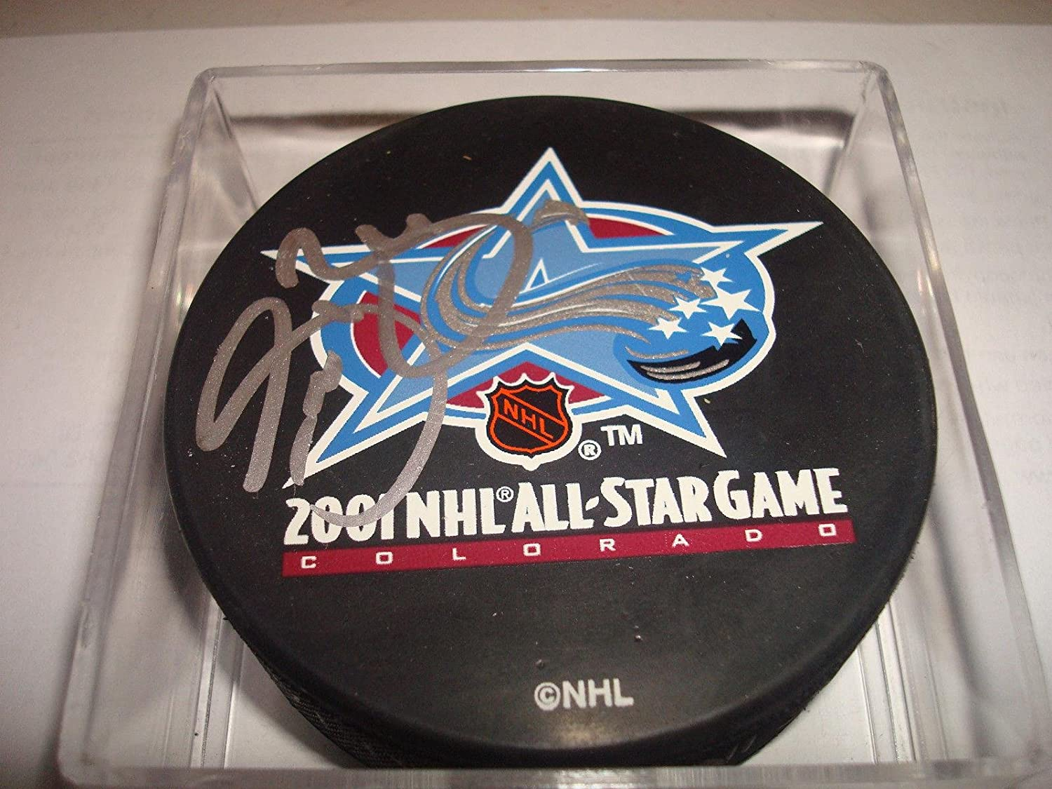 Sean Burke Autographed Puck  2001 All Star  1  Autographed NHL Pucks