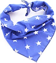 Pet Pooch Boutique Star Bandana for Dog, X-Small/Small, Blue