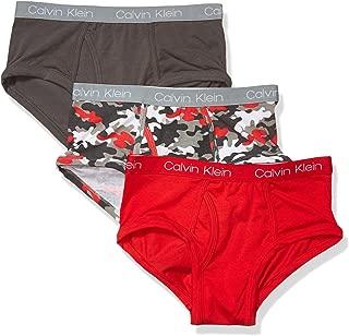 Calvin Klein Boys' Little Kids Modern Cotton Assorted Briefs Underwear, Multipack