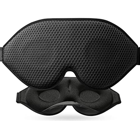 Mascherina per dormire 3D per l'oscurità assoluta, maschera per dormire 2020 di nuova concezione per donne e uomini, aperture di ventilazione in tessuto traspirante, per viaggiare, sonnellini