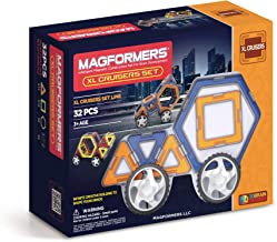 Magformers XL Cruisers Set (32-pieces) Magnetic Building Blocks, Educational Magnetic Tiles Kit , Magnetic Construction ST...