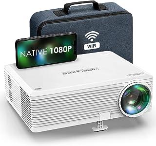 Proyector Full HD 1080p Nativo, Imagen Súper Grande de Colores Brillantes y nítidos, WISELAZER Mini Proyector WiFi Ideal p...