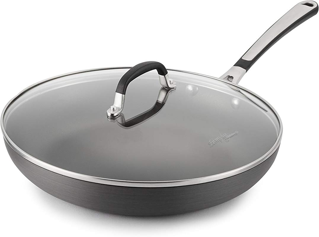 Simply Calphalon 12 Inch Nonstick Omelette Fry Pan With Lid