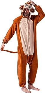 Unisex Adult Pajama Plush Onesie One Piece Monkey Animal Costume