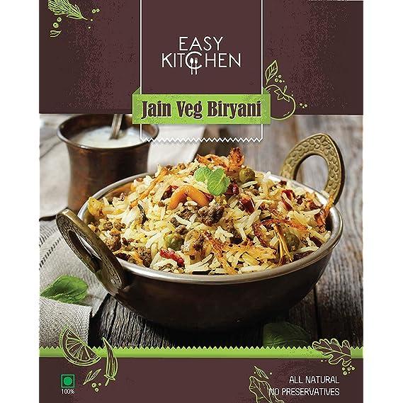 Easy Kitchen Ready to Eat Jain Veg Biryani (225 g Each)