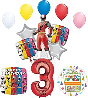 The Ultimate Power Rangers Ninja Steel 3rd Birthday Party Supplies and Balloon Decorations