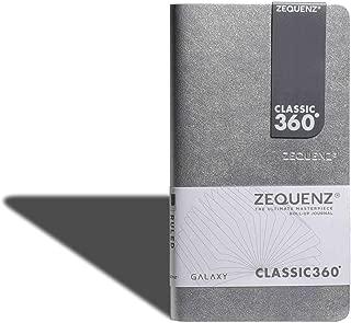 Zequenz Classic 360 Galaxy, Soft Bound Journal, Soft Cover Journal Notebook, Medium, Silver, 4