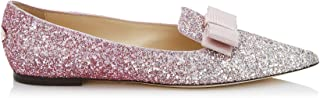 Luxury Fashion | Jimmy Choo Women GALAVOGPLATINUMFLAMINGO Pink Fabric Loafers | Season Permanent