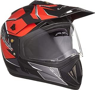 Vega Off Road D/V Mud Dull Black Red Helmet, L