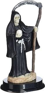 5-Inch Black Santa Muerte Saint Death Grim Reaper Statue