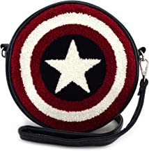 Loungefly Captain America Shield Faux Leather Crossbody Bag Standard