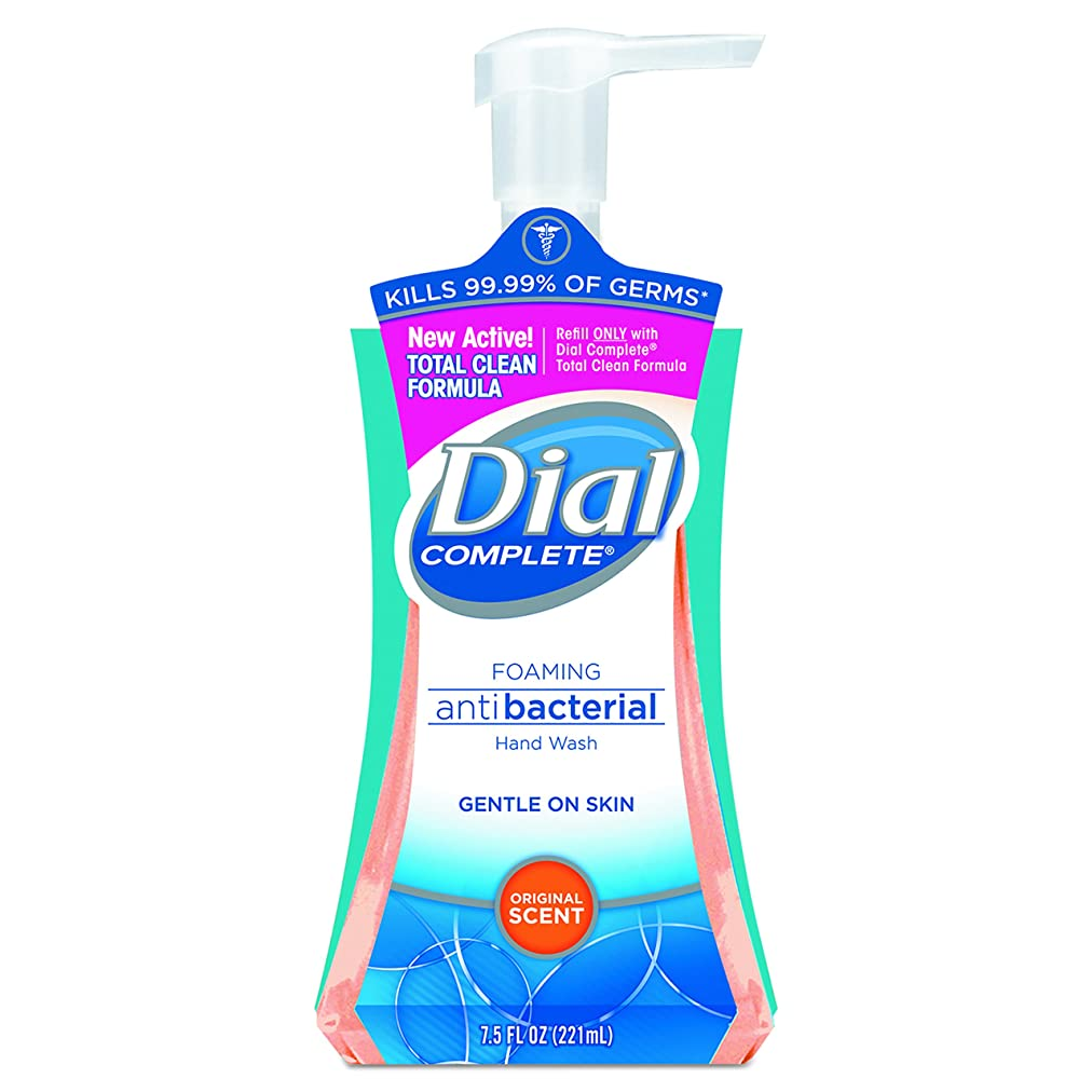 クアッガ昇る真剣にDial Complete Foaming Hand Wash, Liquid, Fresh Scent, 7.5 oz Pump Bottle, 8/Carton
