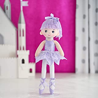 "Butterfly Craze 17"" Ballerina Doll for Little Girls' Ballet Dance Recital and Birthday Gifts (Purple)"