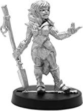 Stonehaven Female Half-elf Monk Miniature Figure (for 28mm Scale Table Top War Games) - Made in US