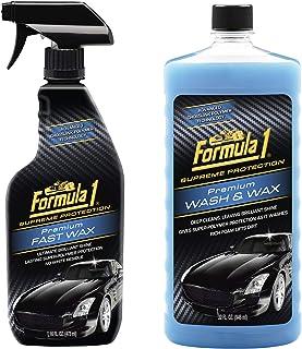 Formula 1 Premium Car Care Kit (Premium Fast Wax 473ml, Premium Wash & Wax 946ml)