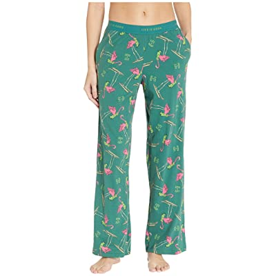 Life is Good Snuggle Up Sleep Pants (Forest Green) Women