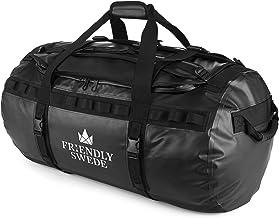 Bolsa de Viaje y Deporte Convertible en Mochila - Duffel Bag - The Friendly Swede (90L Negro)