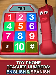 Toy Phone Teaches Numbers: English & Spanish