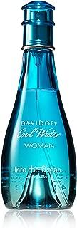 Davidoff Cool Water Into The Ocean Eau de Toilette Spray for Women, 3.4 Ounce
