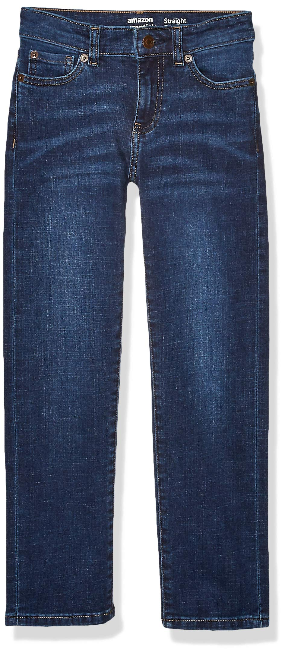Amazon Essentials Kids Boys Stretch Straight-Fit Jeans, Kumo Dark Wash, 10 Husky