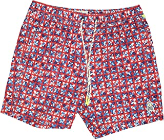 PsychoBunny Mens Filey Swim Trunks ~ Brilliant Red ~ Medium