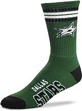 For Bare Feet Men's NHL 4 Stripe Deuce Crew Socks