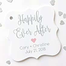 Happily Ever After Printed Wedding Favor Tags, Wedding Favor Tags, Custom Wedding Favor Tags, Fairytale Wedding, Love, Heart (FS-137)