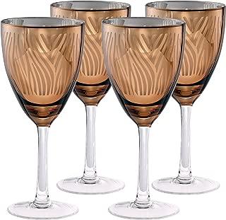 Artland 51173B Zebra Gold Wine Glass, 14 oz, Gold, Set of 4