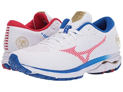 Mizuno Wave Rider 22 Knit (White/Red) Women