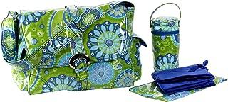 Kalencom Laminated Buckle Bag, Gypsy Paisley Green